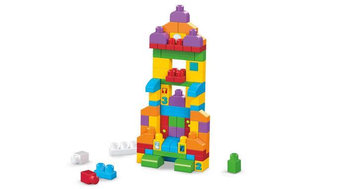 Mega Bloks duży  zestaw klocków 150El. czas na naukę FVJ49