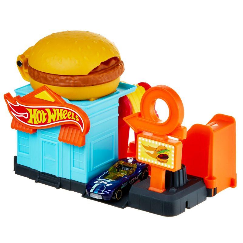 Hot Wheels GPD09 kaskaderska Burgerownia zestaw