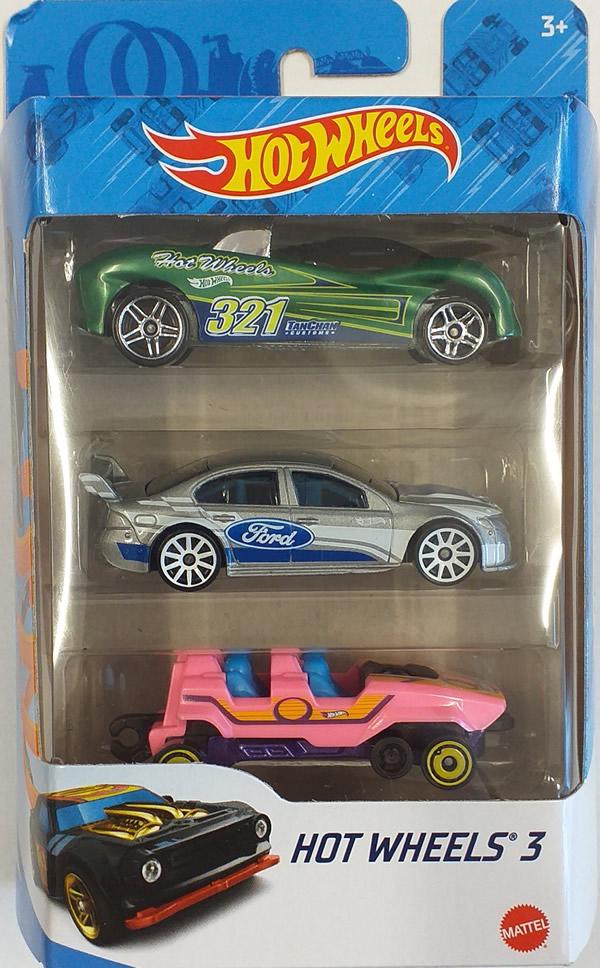 Resorak samochód Hot Wheels autko 3 pak K5904