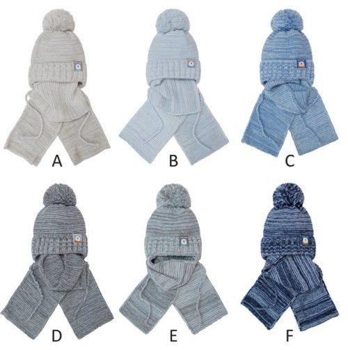 Czapka zimowa + szalik dla dziecka komplet 36-38 kolor D