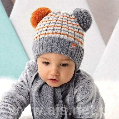 Czapka zimowa + szalik dla dziecka komplet 40-42 kolor B