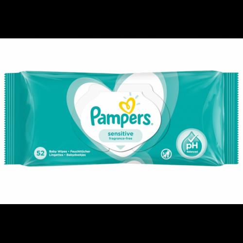 Zamykane chusteczki nawilżane Pampers Sensitive 52 szt