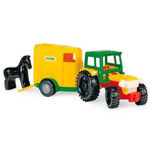 Traktor z przyczepą na konia Wader 35003 39cm
