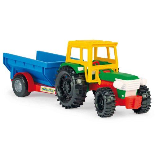 Traktor z przyczepą Wader Farmer 35022 39cm opakowanie karton