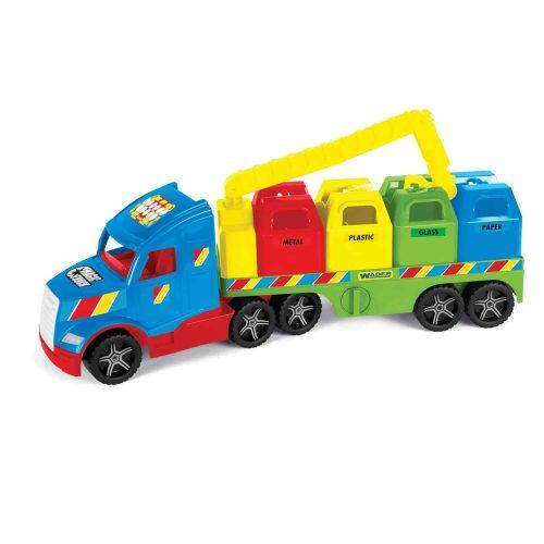 Świecąca cieżarówka śmieciarkaTruck Wader 36320 78cm