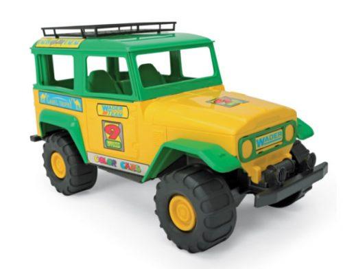 Żółto zielone auto terenowe Wader 37092 38cm
