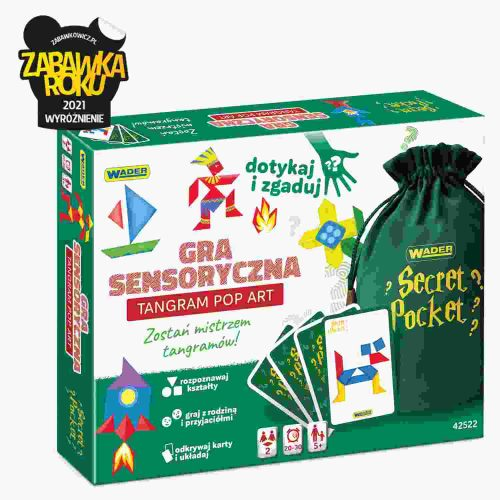Sensoryczna gra dla dzieci i rodziców cecret pocket tangram pop art 42522