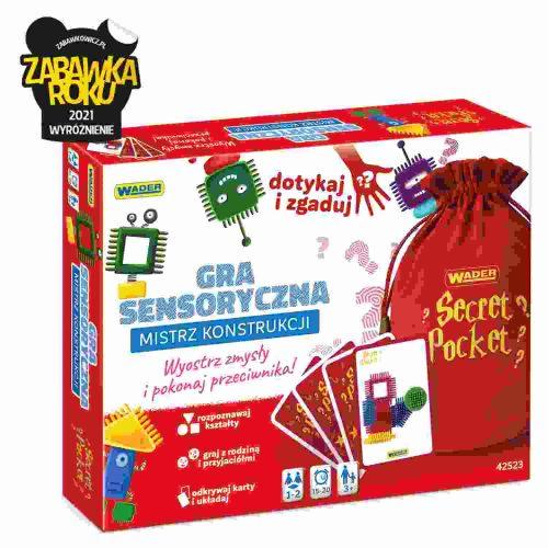 Sensoryczna gra dla dzieci i rodziców mistrz konstrukcji Wader 42523