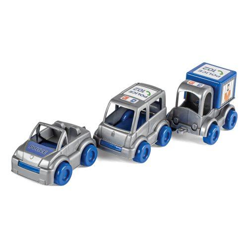 Zestaw 3 samochodów policyjnych Wader 60024 policja