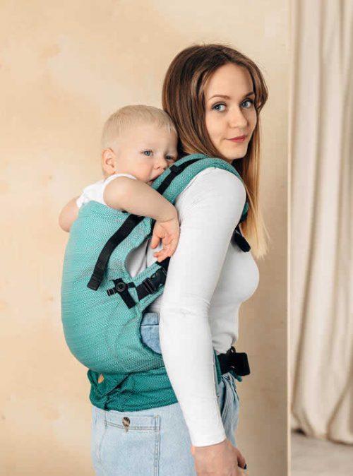 Lenny lamb nosidełko dla niemowląt LennyUpGrade 1-30 m (rozm standard) mała jodełka ombre zieleń