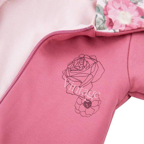 Ewa klucze kombinezon niemowlęcy z kapturem Roses 62