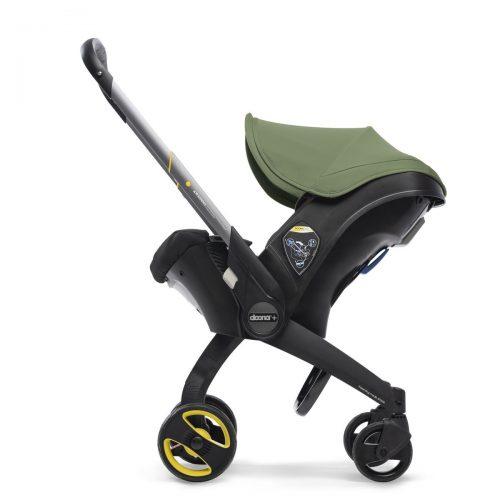 Doona Plus mobilny fotelik samochodowy 0-13 kg ze stelażem wózka spacerowego kolor Desert Green