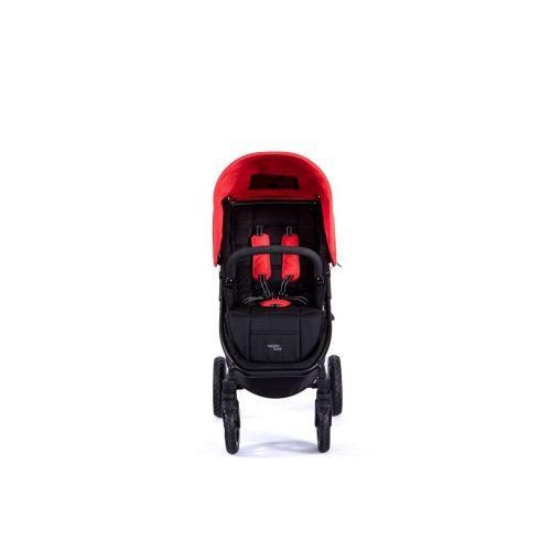 Wózek spacerowy Valco Baby Snap 4 Sport na pompowanych kołach, kolor Black Fire Red