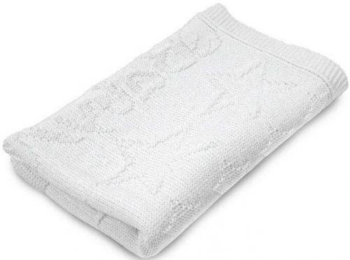 Akrylowy kocyk do wózka łóżeczka 75x100 biały