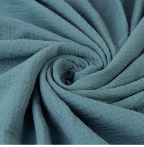 Muślinowy kocyk dwuwarstwowy 100% bawełna 75x100 morski seledyn