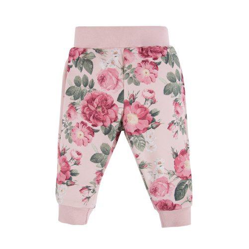 Ewa Klucze spodnie dresowe Roses druk 104