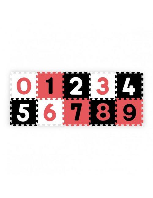 Piankowe puzle nauka i zabawa cyfry 10szt BabyOno różowe