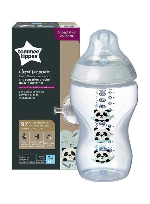 Butelka 340ml Tommee Tippee smoczek 3+ panda